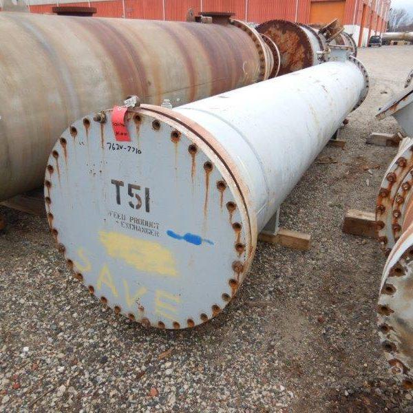 2068 Sq. Foot Roark Enterprises Horizontal Shell and Tube Heat Exchanger