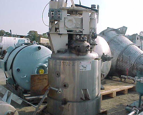200 Gallon 125 PSI Internal, 125 PSI Jacket Stainless Steel Reactor