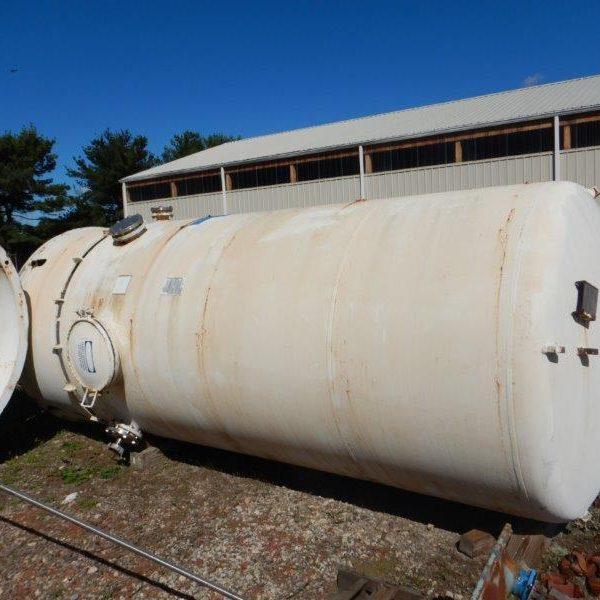 "3,000 Gallon, 72″ X 10'10"", 75 PSI/FV, Ceramic Coating Glass Lined Tank"