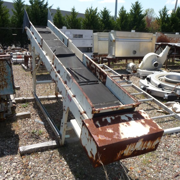 17″ Wide x 12′ Inclined Conveyor Feed