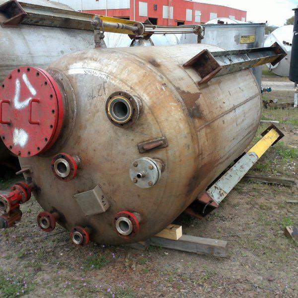 1,000 Gallon 75 PSI Internal 316L Stainless Steel Pressure Vessel