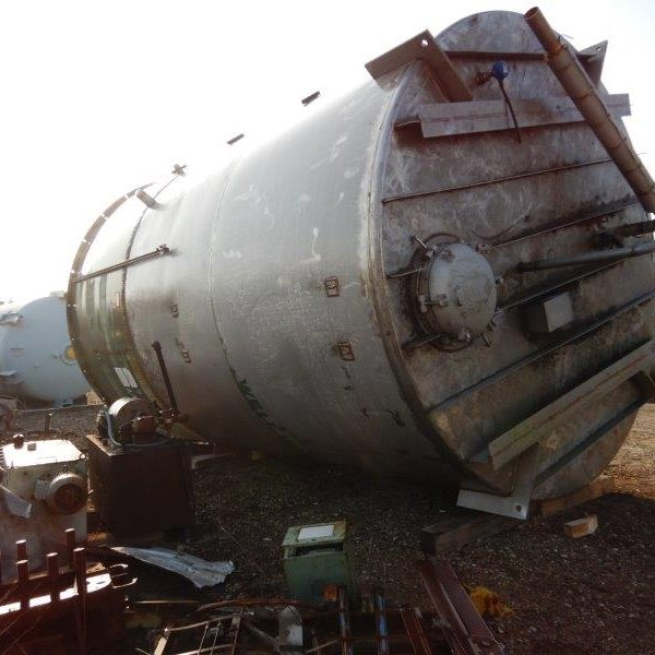 15,000 Gallon Stainless Steel Tank, 12′ Dia. X 20′ Straight Side