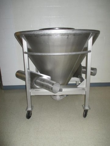 20 Cubic Foot Apache Stainless Steel Cone Shaped Portable Tote