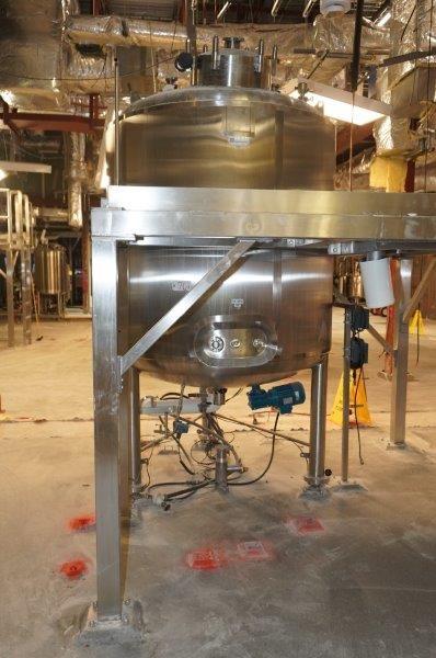 750 Gallon (3,000 Liter) 316L Stainless Steel Reactor, New 2006