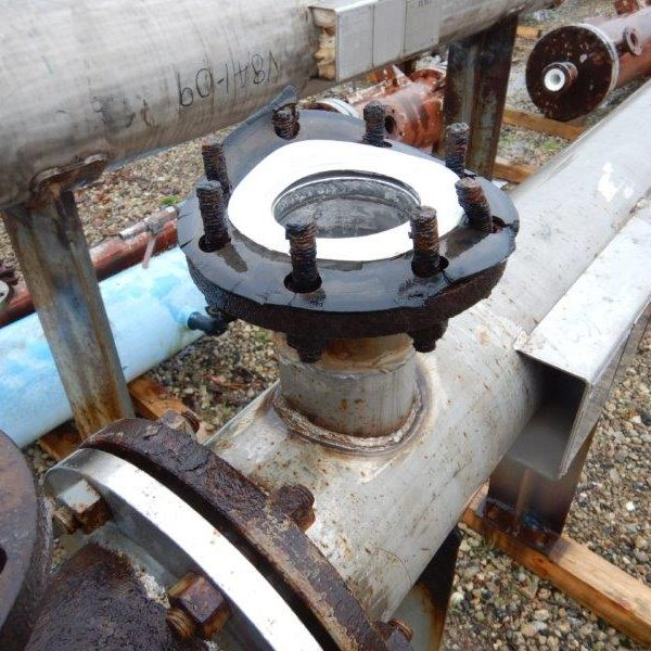 28 Sq. Ft. Manning and Lewis Horizontal Shell and Tube Heat Exchanger