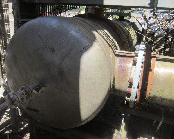 2520 Sq. Foot Praj Ind. Vertical Shell and Tube Heat Exchanger Unused