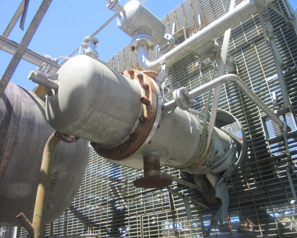 130 Sq. Ft. Praj Ind Vertical Shell and Tube Heat Exchanger Stainless Steel Unused