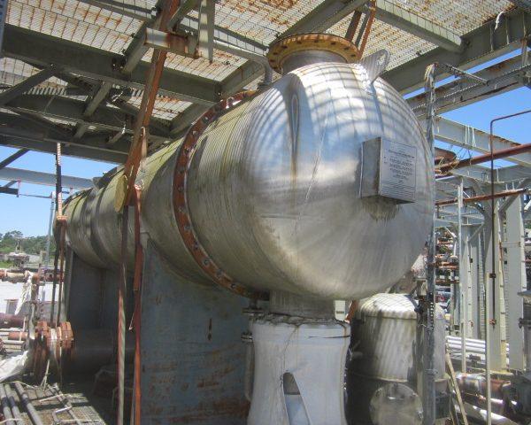 3961 Sq. Foot Praj Ind. Horizontal Shell and Tube Heat Exchanger Unused