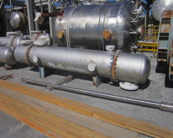 580 Sq. Ft. Praj Ind. Horizontal Shell and Tube Heat Exchanger Unused