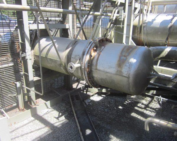 404 Sq. Ft. Praj Ind. Vertical Shell and Tube Heat Exchanger Unused