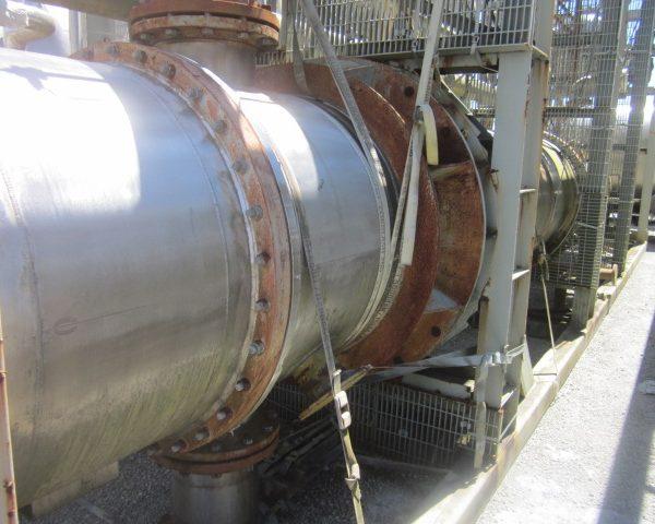 3987Sq. Foot Praj Ind. Vertical Shell and Tube Heat Exchanger Unused