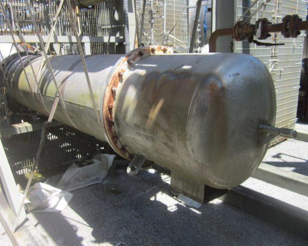 974 Sq. Ft. Praj Ind. Vertical Shell and Tuber Heat Exchanger Unused