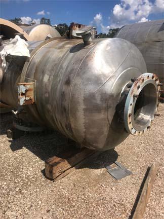 867 Gallon Praj Industries Vertical 304L Stainless Steel Pressure Vessel Unused