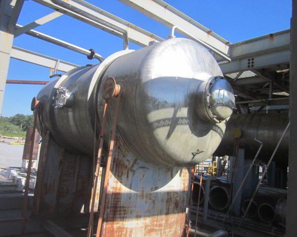 2,527 Gallon Praj Ind Horizontal 304L Stainless Steel Pressure Vessel Unused