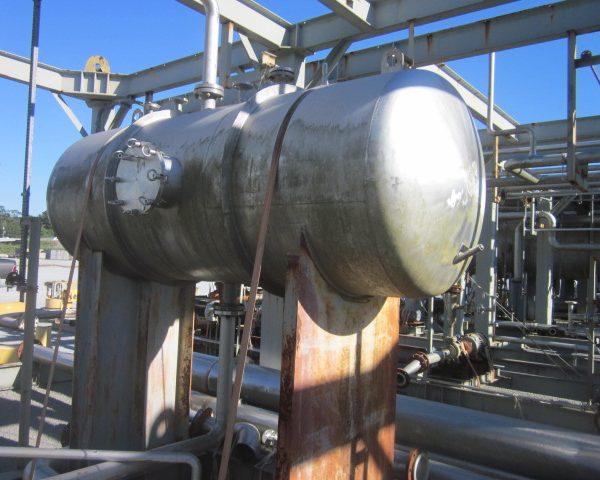 555 Gallon Praj Ind Horizontal 304L Stainless Steel Pressure Vessel Unused