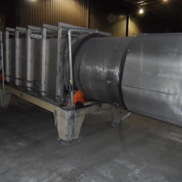 4′ X 16′ Landrum & Hammack Rotary Drum Cooler
