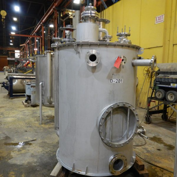 500 Gallon Stainless Steel Vessel 5′ Dia. X 4′ Straight Side