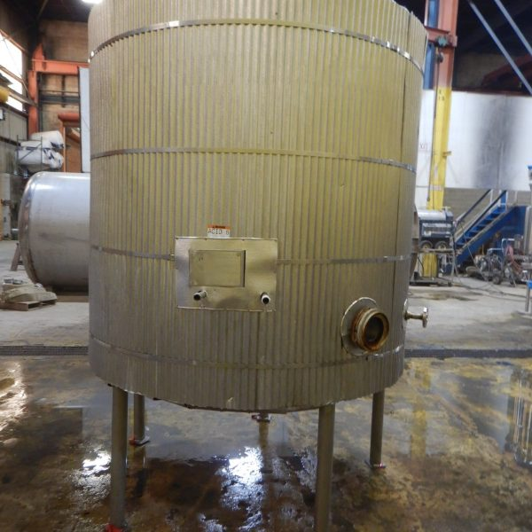 1300 Gallon Stainless Steel Tank 6′ Dia. X 7′ Straight Side
