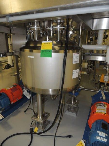 25 Gallon (100 L) 316L Stainless Steel Pressure Vessel, New in 2012