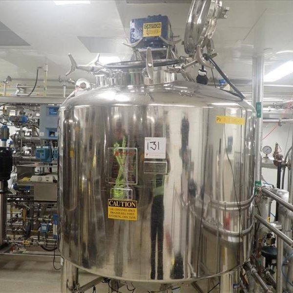 200 Gallon (800 Liter) Stainless Steel Reactor, 100 psi Internal, 150 psi Jacket