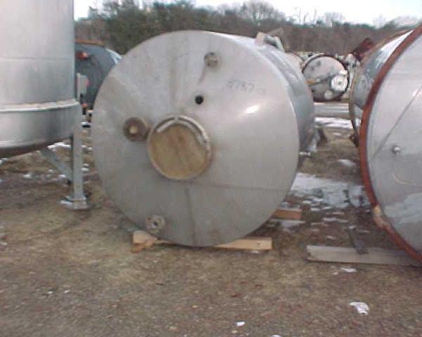 800 Gallon Stainless Steel Vertical Tank, 5'4″ Dia. X 5′ Straight Side