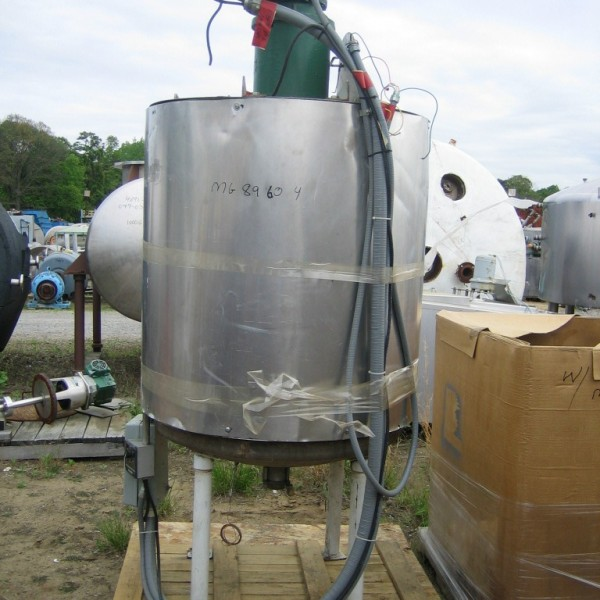 175 Gallon Stainless Steel Mix Tank, 36″ Dia. X 42″ Straight Side