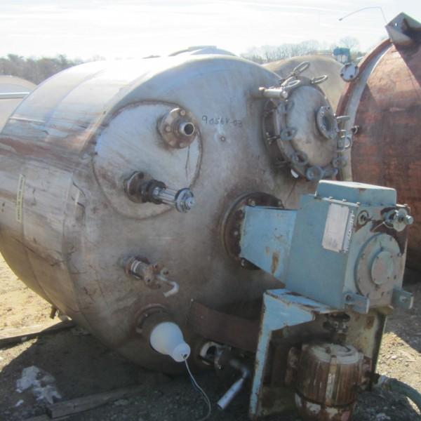 900 Gallon 316 Stainless Steel Mix Tank, 6′ Dia. X 4′ Straight Side, Lightnin Agitator