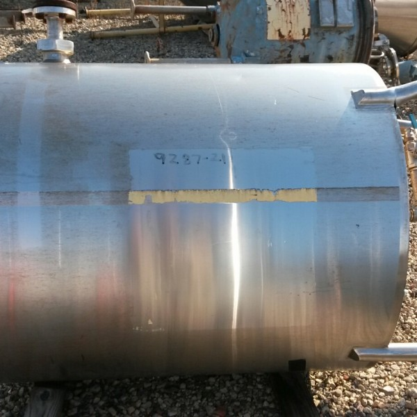 150 Gallon Cherry Burrell Stainless Steel Vertical Tank, 36″ Dia. X 35″ Straight Side,