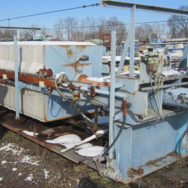 48″ X 48″ Edwards & Jones Polypropylene Recessed Plate Filter Press