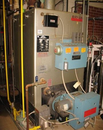 75 HP 30 psi Bryan CL-75W-FDG Flexible Tube Gas Fired Boiler