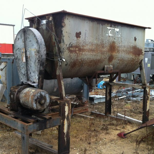 60 Cubic Foot Strong Scott Carbon Steel Double Ribbon Blender