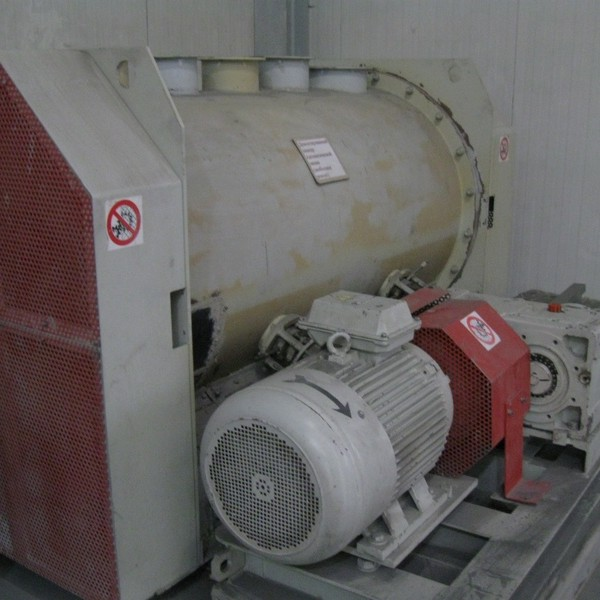 1400 Liter EMT (Wamgroup Italy) Model WBH 2000 Carbon Steel Ploughshare Mixer Blender