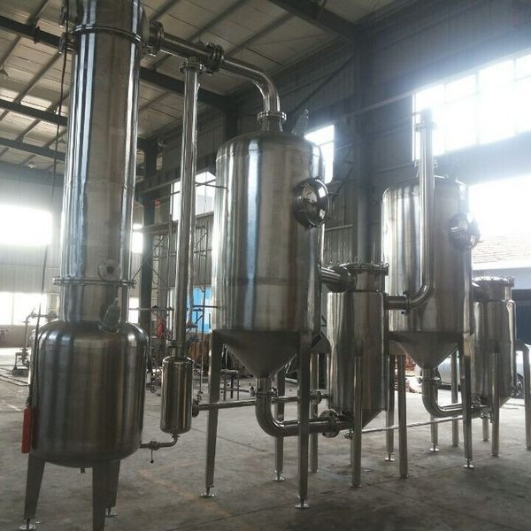 1500 kg/Hour Stainless Steel Double Effect Tubular Evaporator