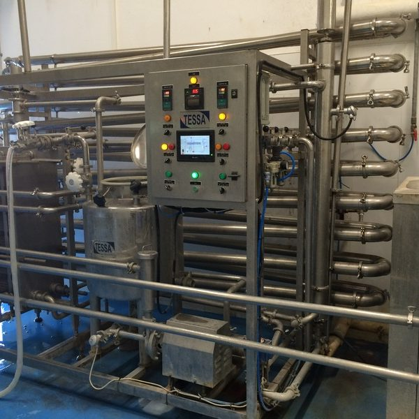 Used UHT diary sterilization unit with the capacity 5000 ltr/h, homogenizer with 200 bar pressure.