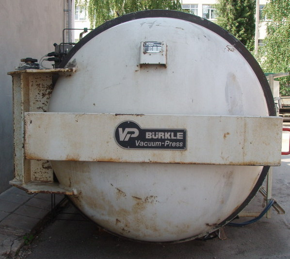 Unused Burkle autoclave with size 1250 x 2500 mm, 250*C, 20 bar