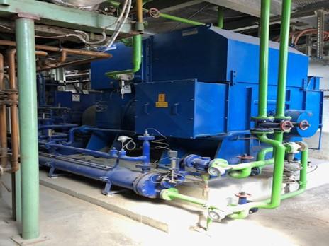Used 2.5 MW twin condensing turbogenerator 41 bar , 400C , 14 t/h