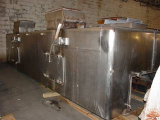 48″ X 20′ Wolverine Proctor Jetzone Stainless Steel Fluidized Bed Dryer