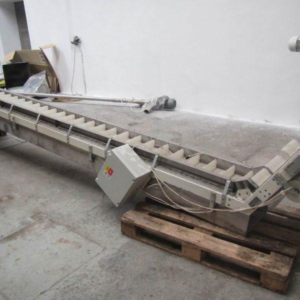 9″ x 16′ Velteko Bucket Belt Inclined Conveyor