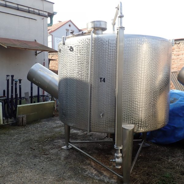 4,000 Litre Stainless Steel Vertical Storage Vessel, 2000mm Dia. x 1300mm Straight Side
