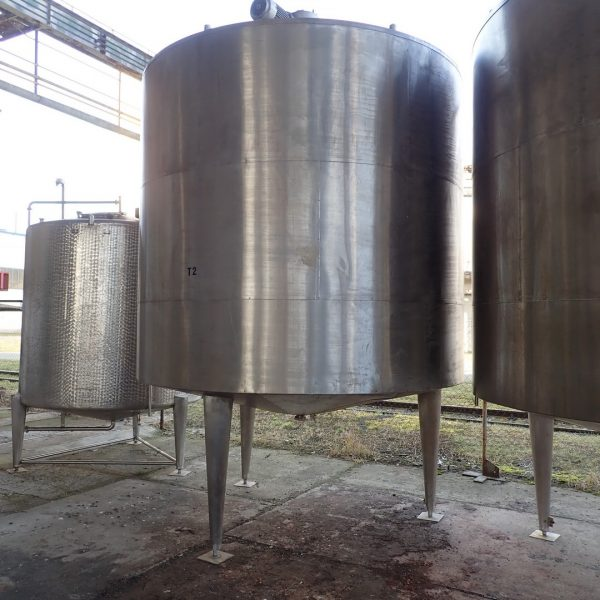 16,000 Litre Stainless Steel Vertical Jacketed Mixing Vessel, 3000 mm Dia. x 2600 mm Straight Side