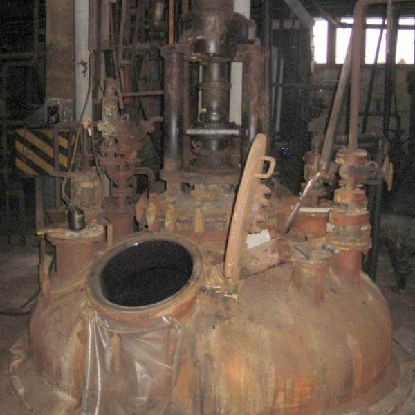 10,900 Litre, 6 Bar Internal, 6 Bar Jacket, Thale Lined One Body Vertical Reactor