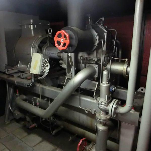 308 HP Sabroe Ammonia Screw Compressor Chiller
