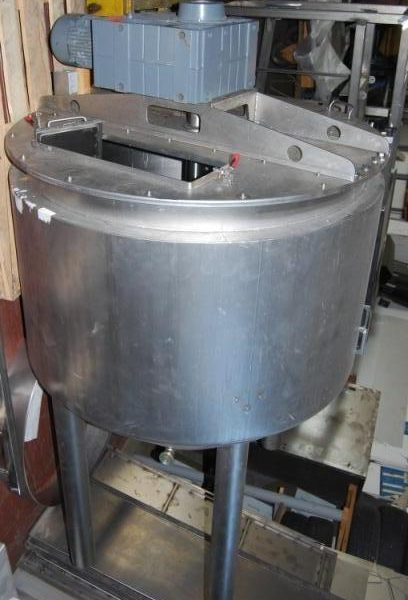 800 Liters Stainless Steel Mixing Tank 1200mm Dia x 1349mm Deep