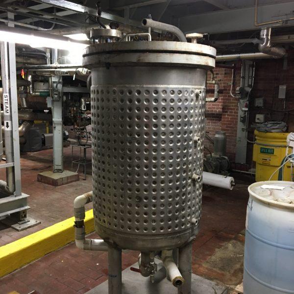 141 Gallon 100 PSI Internal, 150 PSI Jacket Stainless Steel Reactor Body