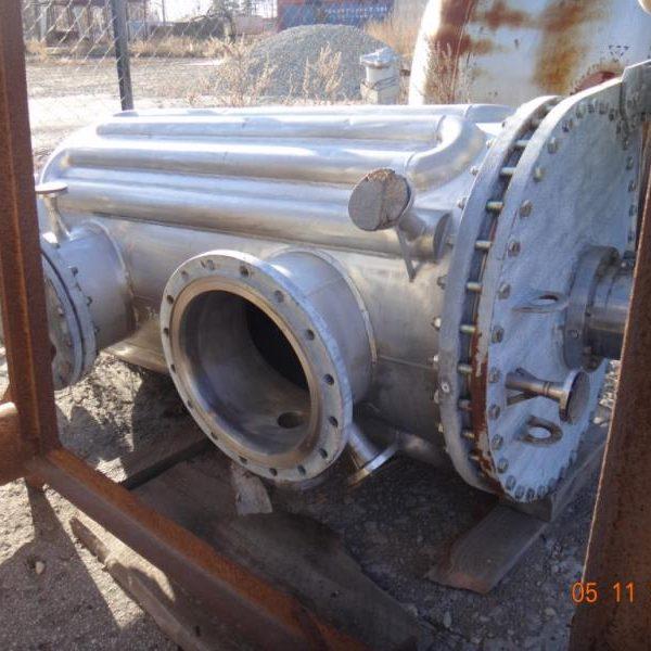 39″ X 6′ Giovanola 316TI Stainless Steel Vacuum Ploughshare Dryer
