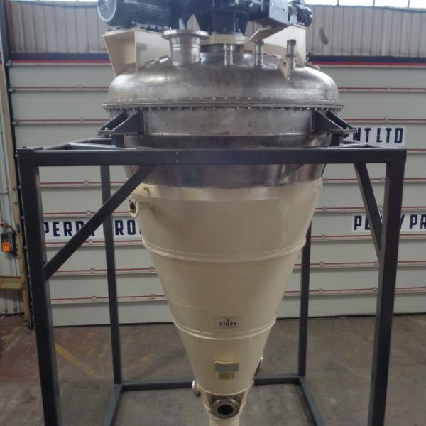 2,000 Litre Nauta MBXU-20RVW 321 Stainless Steel Conical Vacuum Mixer/Dryer, Refurbished