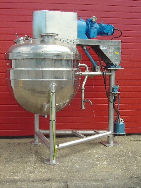 500 Litre, 2.49 Bar Internal, 4.06 Bar Jacket Stainless Steel Process Vessel/Reactor