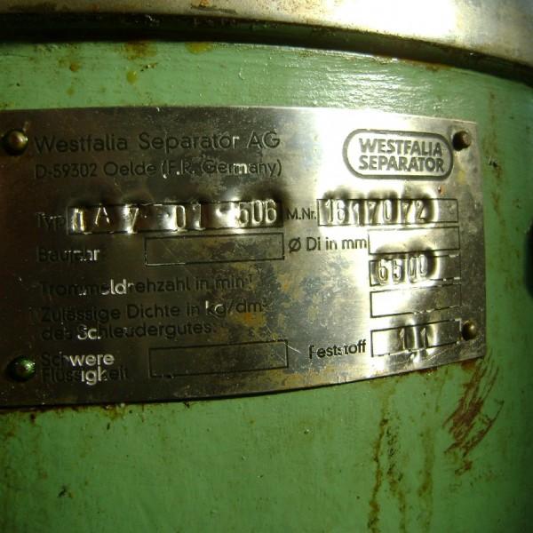 Westfalia Model TA 7-01-506 Separator
