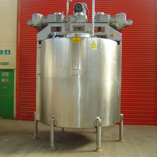 5,100 Litre, 3.4 Bar Jacket, Stainless Steel Vessel
