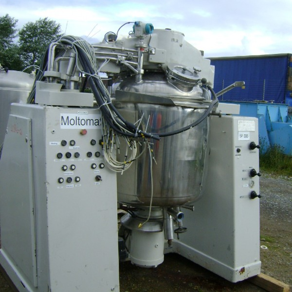 300 Litre 4 HP Oskar Krieger Type MMU-300 Stainless Steel Triple Action Mixer